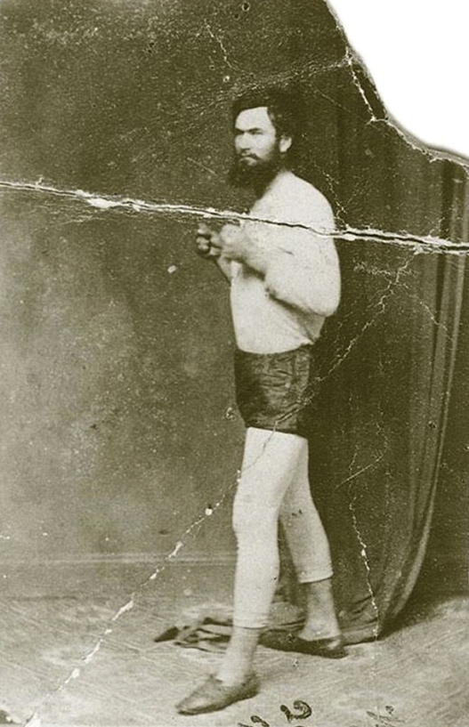 Ned Kelly as a bareknuckle boxer