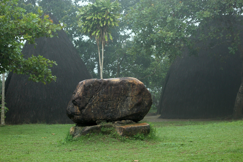 Memorial stone at Zumbi's capital