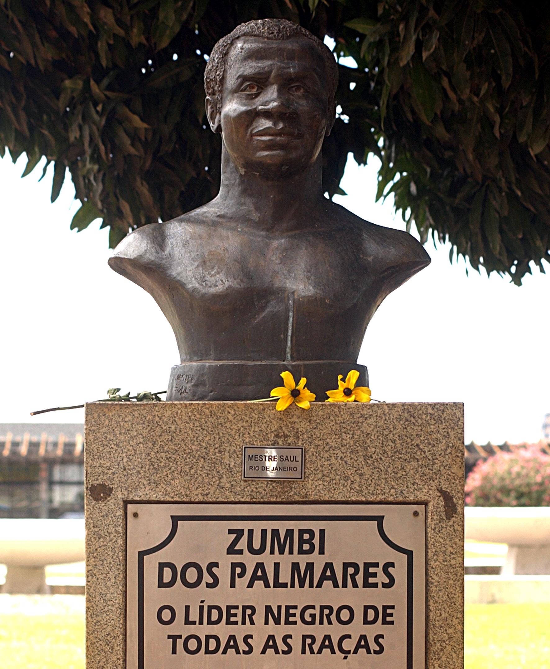 Commemoration statue of Zumbi